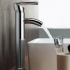 Modern-Brass-Single-Lever-Faucet-Silver-(Chrome-Finished)
