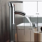 Modern Brass Single Lever Faucet - Silver (Chrome Finished)