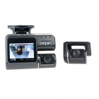 2.0'' TFT 5.0MP CMOS Wide Angle Front & Rear View Car DVR Camcorder w/ 8 LED / Remote Controller
