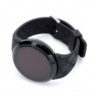 Fashion Round Shaped Touch Screen Red LED Waterproof Wrist Watch - Black (1 x CR2032)