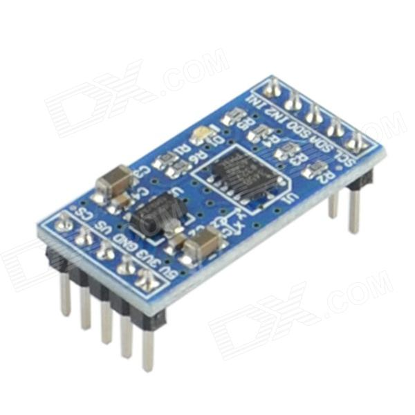 ADXL345 Digital Sensor Acceleration Module for Arduino (Works with Official Arduino Boards)Sensors<br>ModelADXL345Quantity1ColorBlueQuantity1ColorBlueForm  ColorBlackMaterialPlasticApplicationVariousPacking List<br>