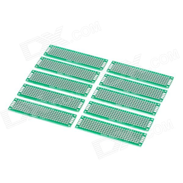 Double Side Prototype PCB Breadboards (2 x 8cm / 10 PCS)Other Accessories<br>ModelNQuantity10ColorGreenMaterialGlassForm  ColorGreenMaterialGlassPacking List<br>