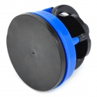 Kitchen Mini Knife Sharpener Grinder Grinding Tool w/ Suction Pad Cup - Blue + Black