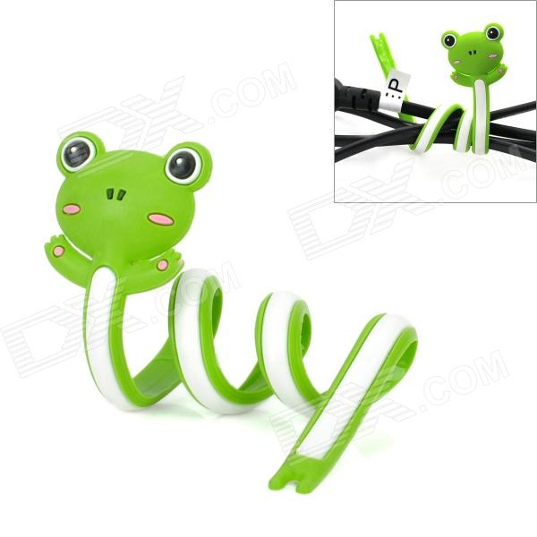 Lovely Frog Style Cable Winder / Organizer - GreenLifestyle Gadgets<br>ModelNForm  ColorGreenMaterialFlexibleQuantity1Packing List<br>