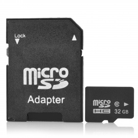 Reliable-Class-6-Micro-SD-TF-Card-w-SD-Adapter-Black-(32GB)