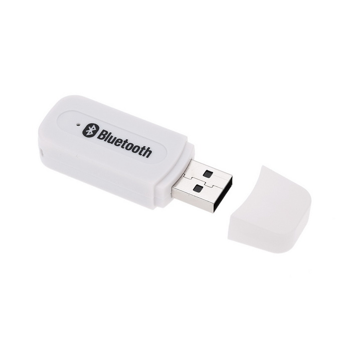 Bluetooth V2.1+ EDR Wireless Audio Receiver w/ 3.5mm Jack Cable - WhiteAV Adapters And Converters<br>Material:Form  ColorWhiteConnector3.5mm,OthersPower AdapterOthersPacking List<br>