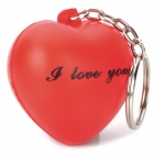 I Love You Love Heart Shaped Keychain - Red