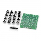 DIY MCU Extension 4 x 4 16-Key Keyboard Matrix Module - Green