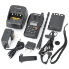 BF-V85 Rechargeable VHF / UHF 99-Channel Two-way Radio Walkie Talkies with FM - Black