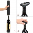 Battery Operated Stainless Steel + ABS Wine Corkscrew Opener - Black (4 x AA)