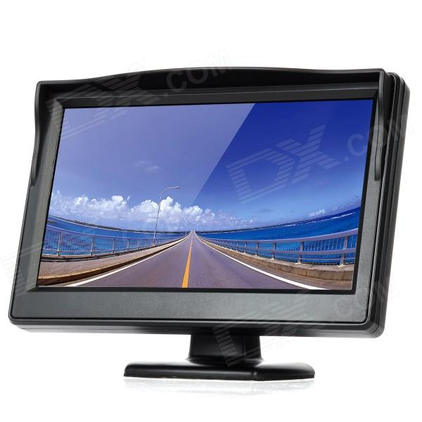 "5.0"" TFT LED Display Car Rearview Stand Security Monitor - Black"