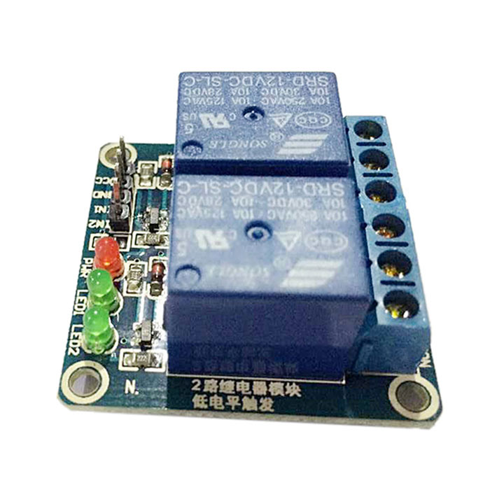 2 Channel 12V Low Level Trigger Relay Module for Arduino (Works with Official Arduino Boards)