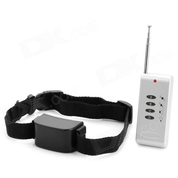 Pet-Dog-Bark-Stop-Training-Collar-w-Remote-Controller-Black-(2-x-AAA)