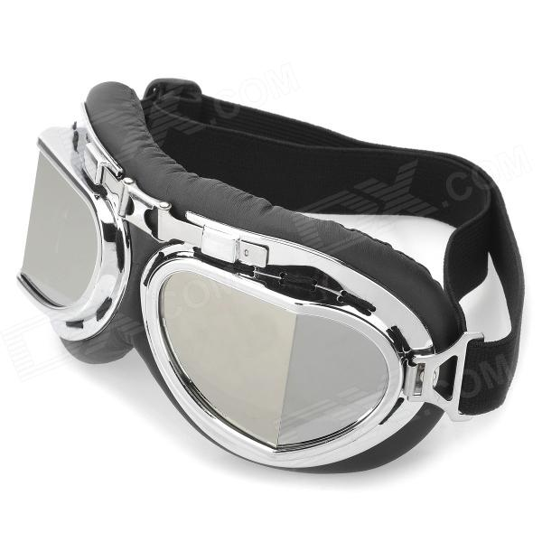 Buy Cool Folding Motorcycle Riding Eye Protection Glasses Goggle - Black + Silver