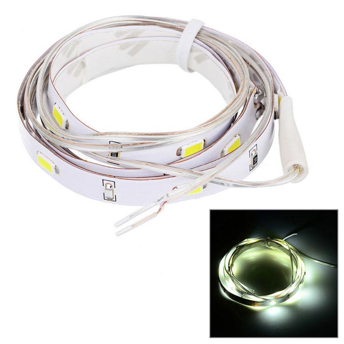 12W 30-LED Car DIY Flexible White Light Strip (12V / 100cm)5630 SMD Strips<br>Form  ColorWhitePower2WEmitter TypeLEDColor BINWhitePacking List<br>