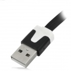 USB Male to Micro USB Male Flat Charging Data Cable - Black (200cm)
