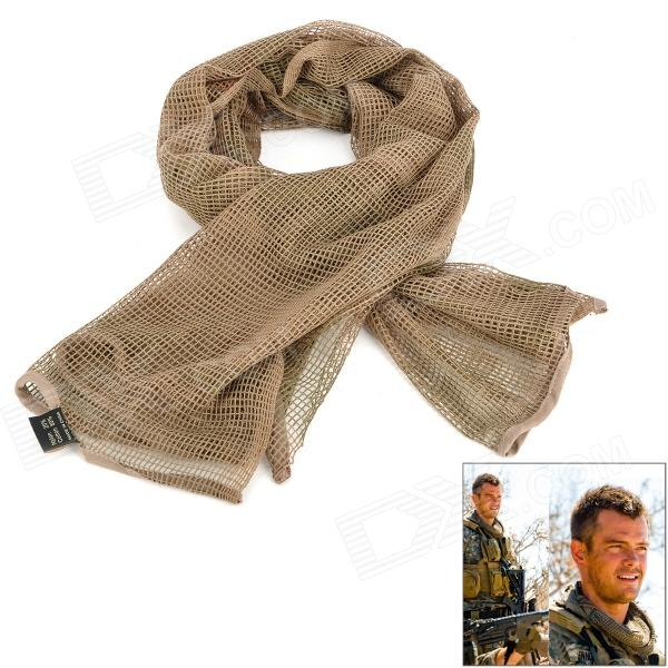 Buy Outdoor Cotton Net Neck Warmer / Scarf - Three Sand Camouflage with Litecoins with Free Shipping on Gipsybee.com