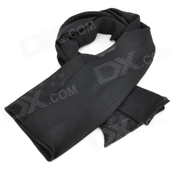 Buy Mesh Face Veil Head Cover Scarf - Black with Litecoins with Free Shipping on Gipsybee.com