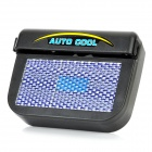 Solar Powered Car Auto Cool Air Vent Cooling Fan - Black