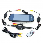 "7"" Car Rearview Mirror Monitor + 2.4GHz Wireless Camera Kit - Black"