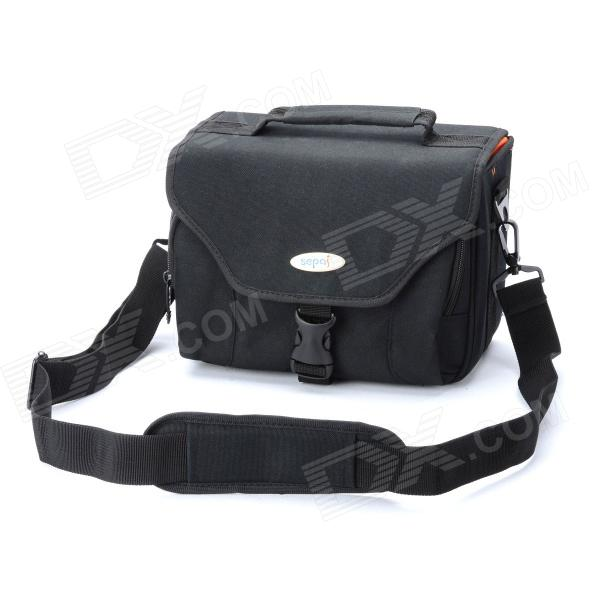 Sepai B702 Protective Nylon Camera One-Shoulder Handheld Bag for Sony A350 / A380 DSLR - Black