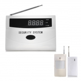 20-LCD-Auto-Dial-Audio-Prompts-Smart-Home-Security-Alarm-White