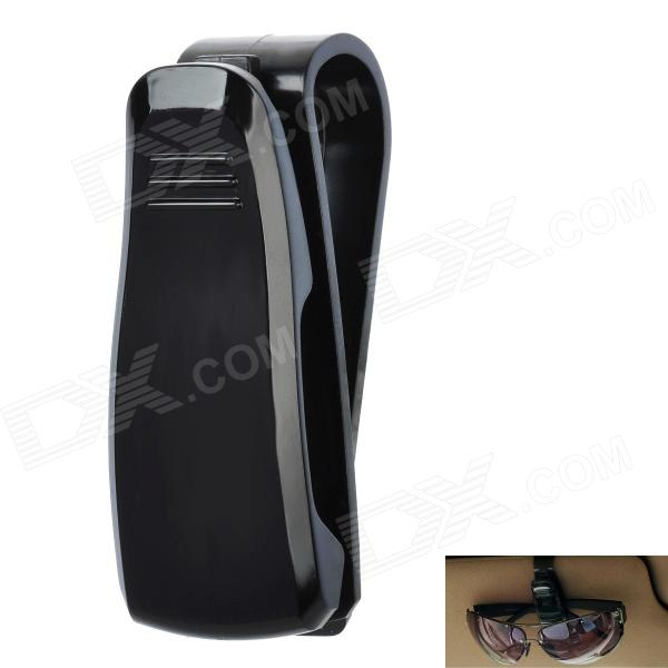 Car Vehicle Sun Visor Clip Sunglasses / Eyeglass Holder - Black