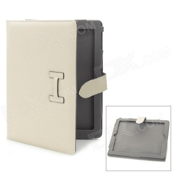 Protective PU Leather Case for Ipad 2 / The New Ipad - Beige