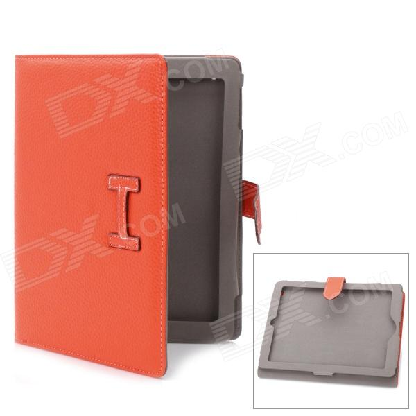 Protective PU Leather Case for Ipad 2 / The New Ipad - OrangeIpad Cases<br>Form  ColorOrangeCompatible ModelsIPAD 2Packing List<br>