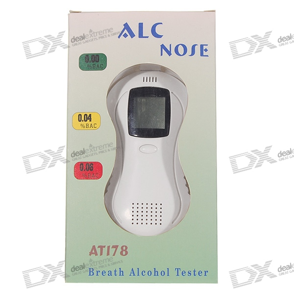 AT178 LCD Digital Alcohol Tester Breathalyzer (0.19% BAC Max)