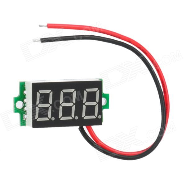 DIY 3-Digit LED Digital Voltmeter Module for Car / Motorcycle / Electric Vehicle (4~30V)