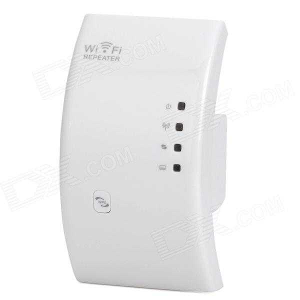 Portable-24GHz-80211bgn-300Mbps-Wireless-Wi-Fi-Router-White-(AC-110-230V)