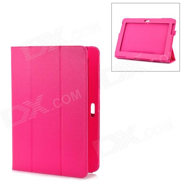 Protective PU Leather Case for Samsung Galaxy Note 10.1 N8000 - Deep Pink