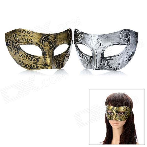 Buy Masquerade Party Harm Fancy Dress Masks - Golden + Silver (Pair) with Litecoins with Free Shipping on Gipsybee.com