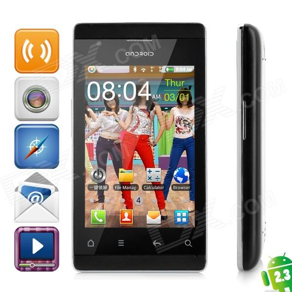 "A518 Android 2.3 GSM Bar Phone w/ 3.5"" Capacitive Screen, Dual-Band, Wi-Fi and Dual-Band - Black"