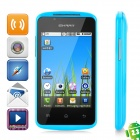 "C208 Android 2.3 GSM Bar Phone w/ 3.5"" Capacitive Screen, Dual-Band, Wi-Fi and Dual-SIM - Blue"