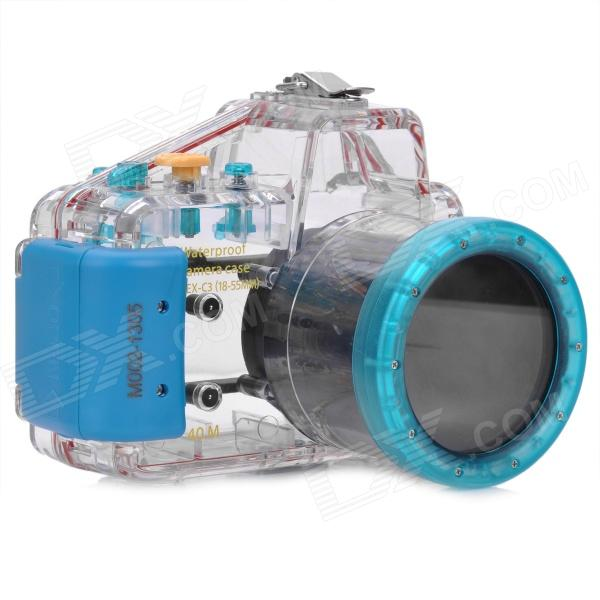 Meikon Meikon-16 Professional Water Resistant Protective Case for Sony NEX-C3 - Transparent + Blue