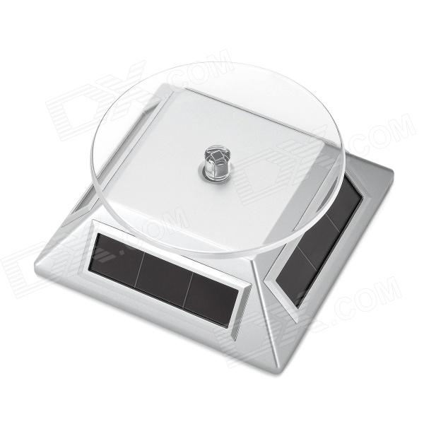 Solar Powered Display Rotary Turntable Turnplate - Silver