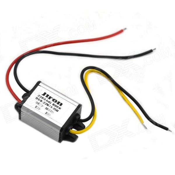 Adjustable DC 12V to DC 5V Voltage Step-Down Power Module - BlackPower Module<br>Quantity:Form  ColorBlackMaterial:English Manual / SpecYesPacking List<br>