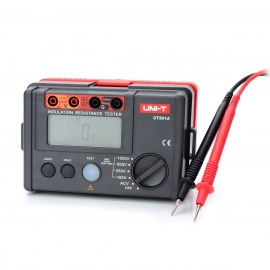 UNI-T-UT501A-28-LCD-Insulation-Resistance-Tester-Red-2b-Grey-(6-x-AA)