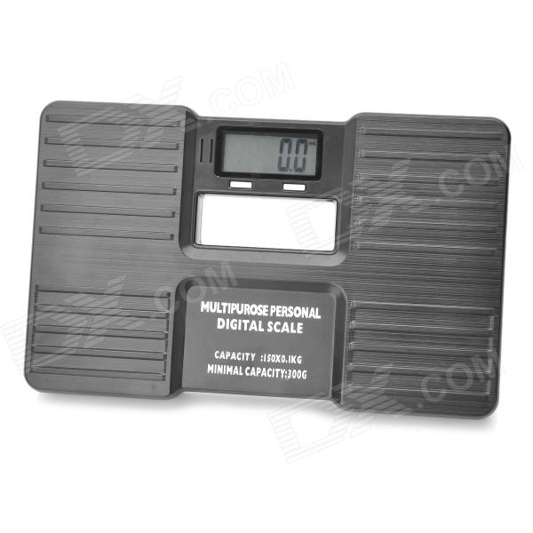 "LX-01 2.0"" LCD 0.3kg ~ 150kg Bench Scale mit roter Hintergrundbeleuchtung - Schwarz (2 x AAA)"