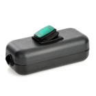 Water Resistant In-Line On/Off Rocker Switch w/ Green Light for Electric DIY - Black + Green