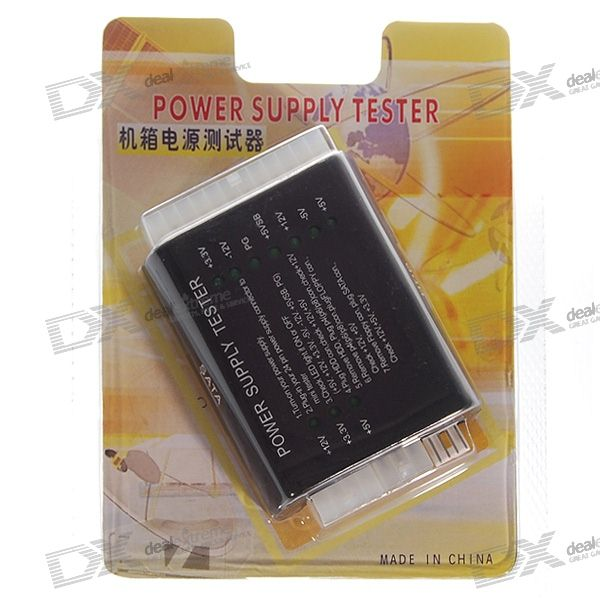 PC Computer ATX+HDD+SATA Power Supply Tester (English Edition)
