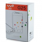 "G25 Android 2.3 WCDMA Bar Phone w/ 3.5"" Capacitive Screen, Wi-Fi, GPS and Dual-SIM - White + Green"