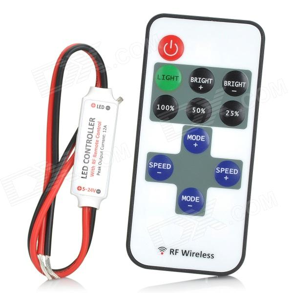 11 Key Rf Wireless Remote Controller For Single Color Led Strip