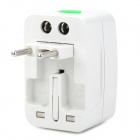 Universal Socket Reisen Power Adapter w / EU / UK / US / AU Stecker - Weiß (AC 100-250V)