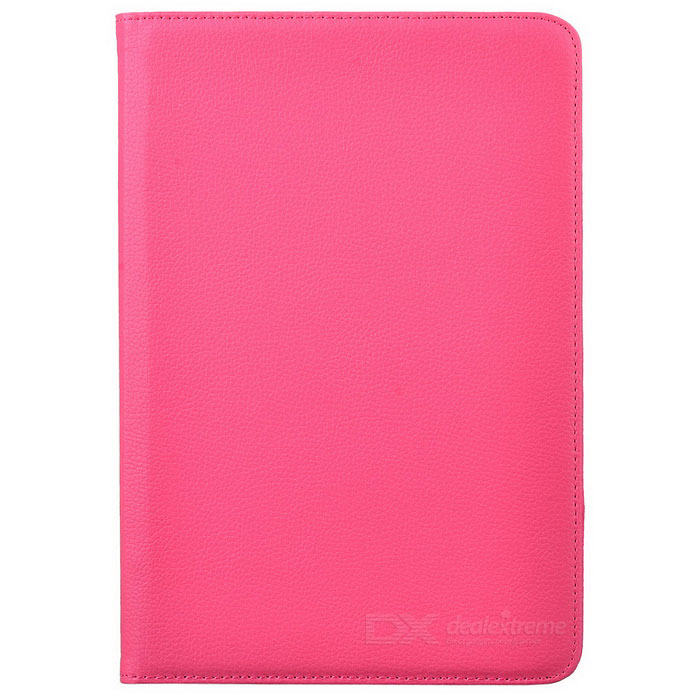 Protective 360 Degree Rotating PU Leather Case for Samsung Galaxy Note 10.1 N8000 - Deep Pink