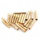 2.0mm Bullet Banana Connect Plug for RC Battery - Golden (20PCS)