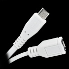 Micro USB to VGA + Audio MHL Adapter Cable for Samsung i9100 / i9220 / i9250 - White