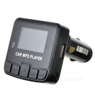 "1.3 ""LED Car MP3 Player FM Transmitter w / control remoto - Negro"